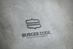 Burger Code - Logo Template