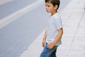 child in the street