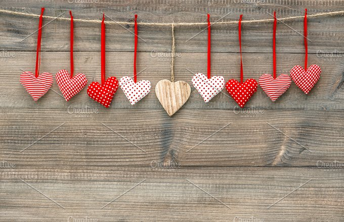 Red hearts. Valentines Day - Holidays