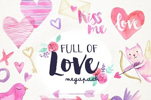 Full of Love Watercolor Pack