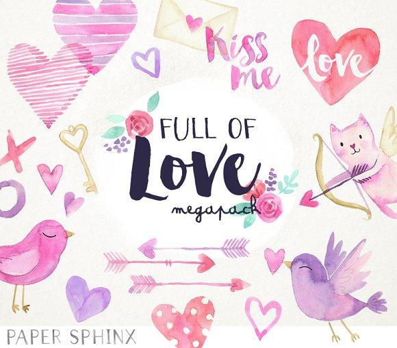 Full of Love Watercolor Pack