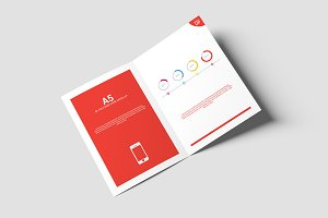 Bi-Fold Brochure Mock-Up - A5 A4
