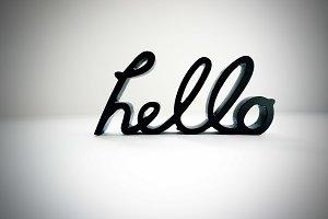 Styled Stock Photo-Hello