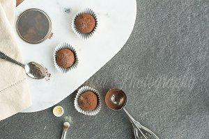 chocolate truffle styled mockup