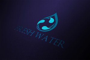 Fresh Drop Water Logo