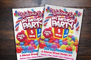Kids Birthday Party Event Card