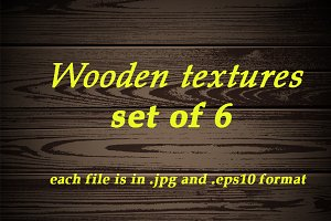 Wooden textures. Set of 6 pcs