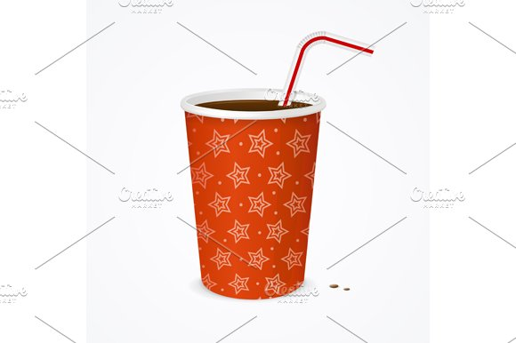 Drinking Straw and Cup. Vector in Illustrations - product preview 1
