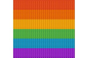 Knitted Background Rainbow. Vector
