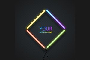 Colorful Neon Frame. Vector