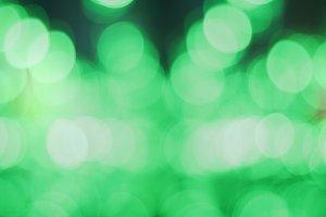 Green bokeh lights
