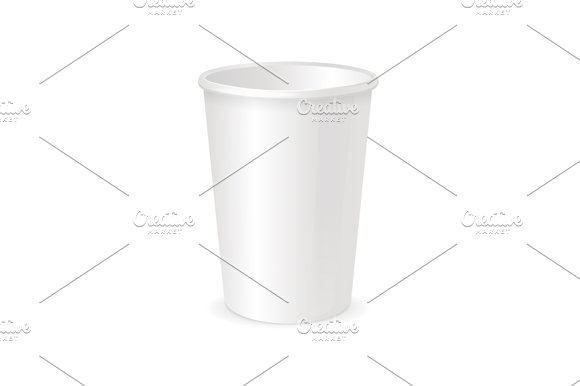 paper cup template vector graphic objects creative market