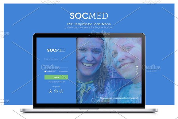 socmed social media template psd web elements creative market