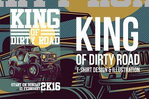 King of Dirty Road Illustration