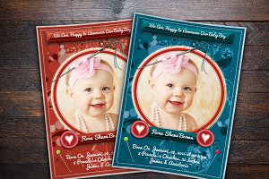 Stitch Styles Baby Anouncement Card
