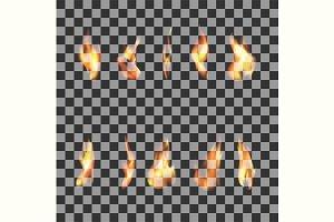 10 Fire Flames