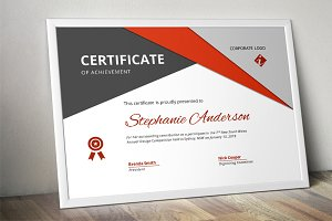 Big triangle Word docx certificate