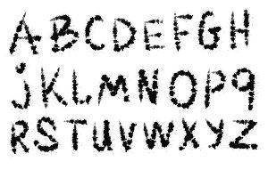 Blotch vector font.
