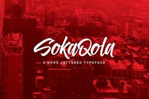 SokaQola Hand-lettered Font