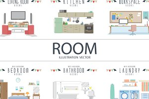 Room Illustration Vector