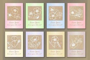 8 Vintage Rose Cards
