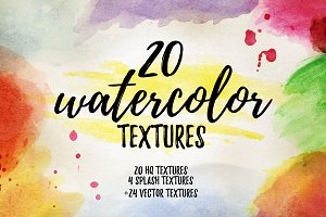 24 watercolor textures