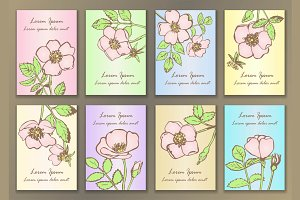 8 Rose Greeting Cards