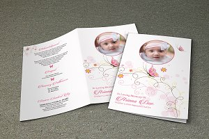 Child Funeral Program Template-V374