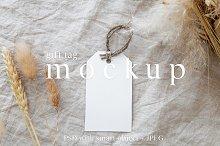 Gift Tag Mockup / Boho Mockup