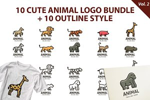 Cute Animal Logo Bundle Vol 2