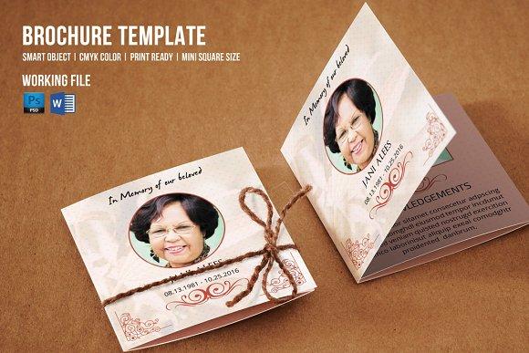 Mini Square Funeral TemplateV Brochure Templates Creative - Mini brochure template
