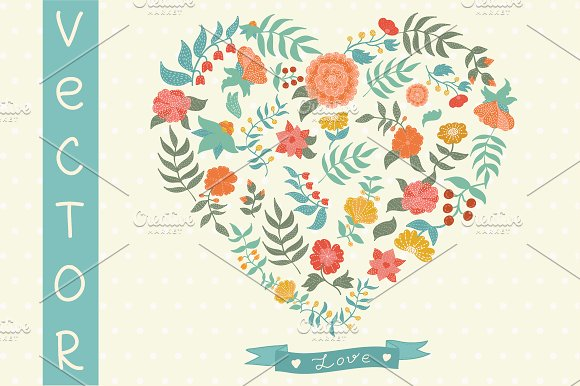 Vector Flowers. Vector set. - Illustrations