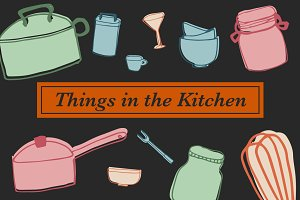 Things in the Kitchen- 59 Objects