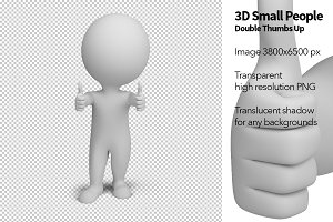 3D Small People - Double Thumbs Up