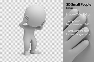 3D Small People - Stress