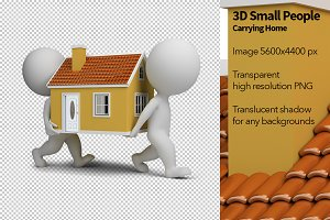 3D Small People - Carrying Home