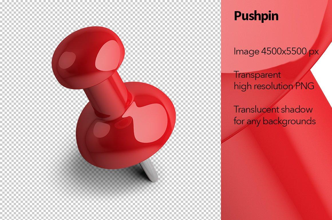 pushpin graphic objects creative market