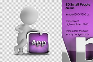 3D Small People - App Icon