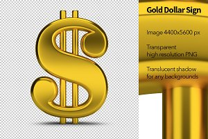 Gold Dollar Sign