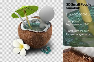 3D Small People - Coconut Bath
