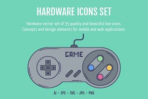 Hardware Icons Set