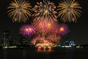 Amazing celebration fireworks