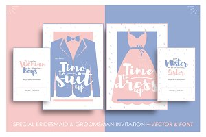 Bridesmaid & Groomsman Invites