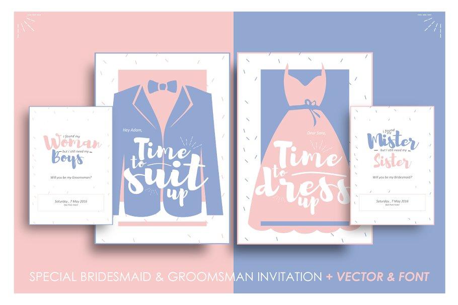 Bridesmaid Groomsman Invites