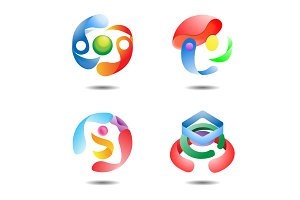 Glossy Sphere Logo Icon Template