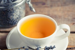 Lavender tea cup