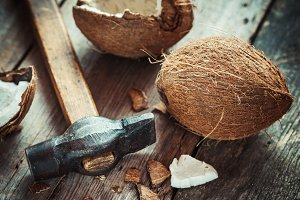 Coconuts and hammer