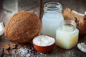 Coconut, coco nut oil and milk.
