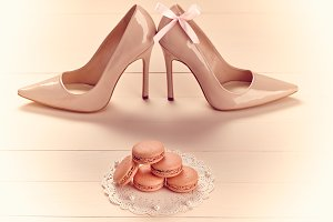 Woman essentials, high heels, pearl
