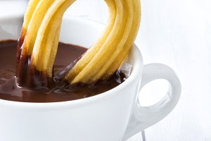 Hot chocolate with churros